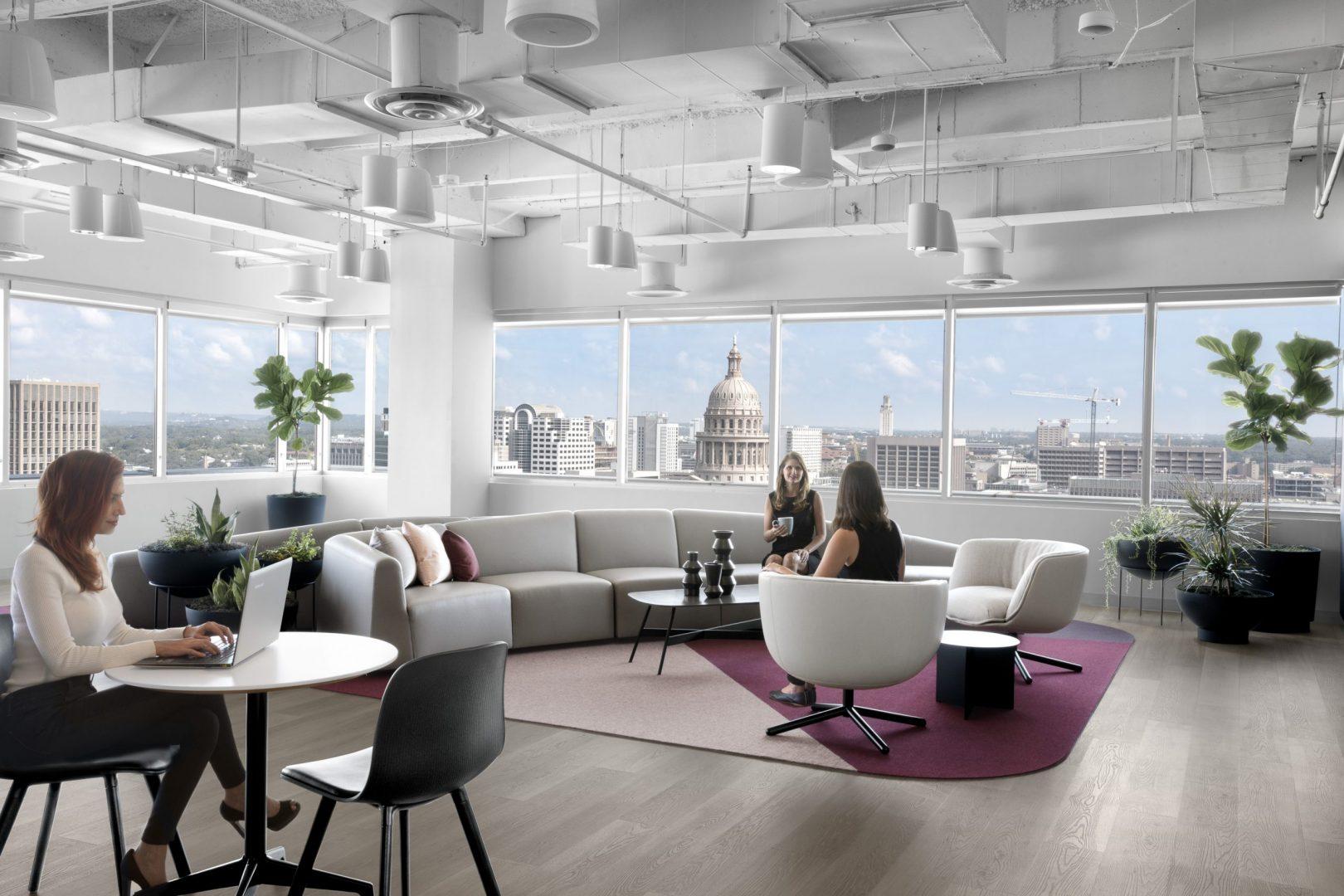 Corporate Lounge Design Austin Capitol Views