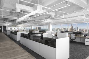 Corporate Open Office Design Austin Tech Client