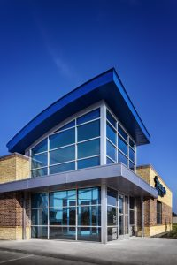 First Service Credit Union Building Architecture Atascocita Glass Entry