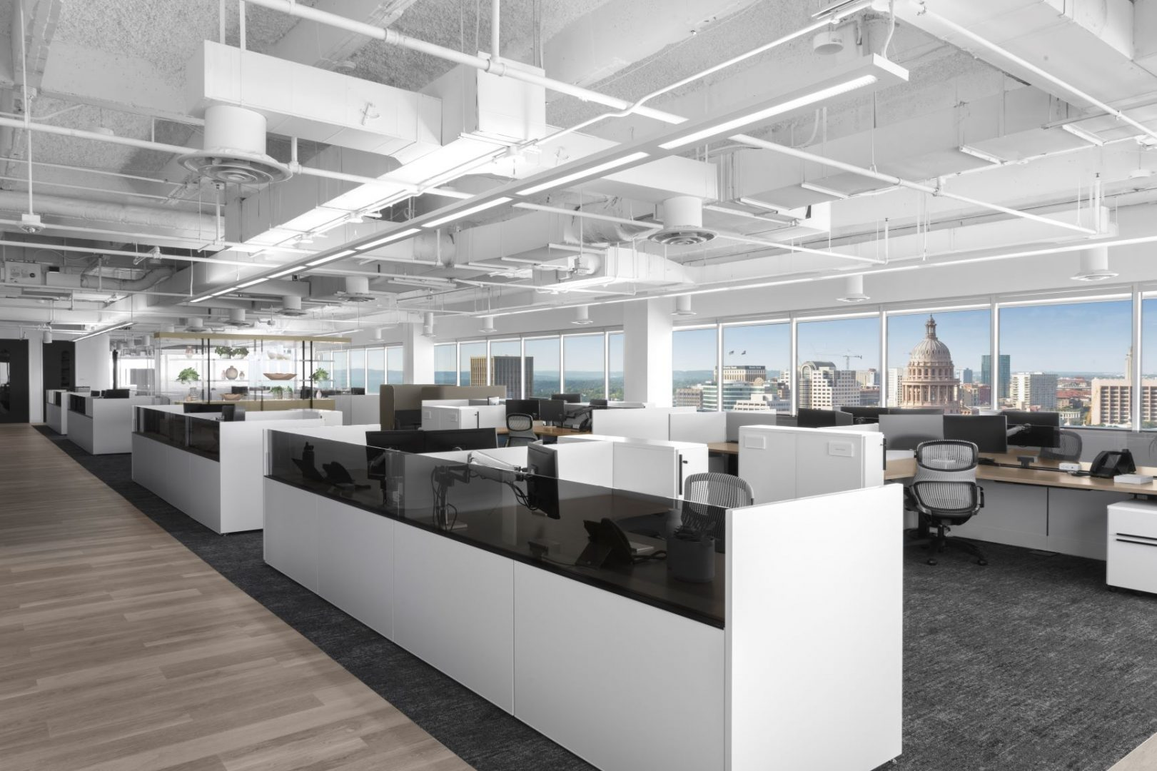 Open Office Design Austin Texas Capitol View