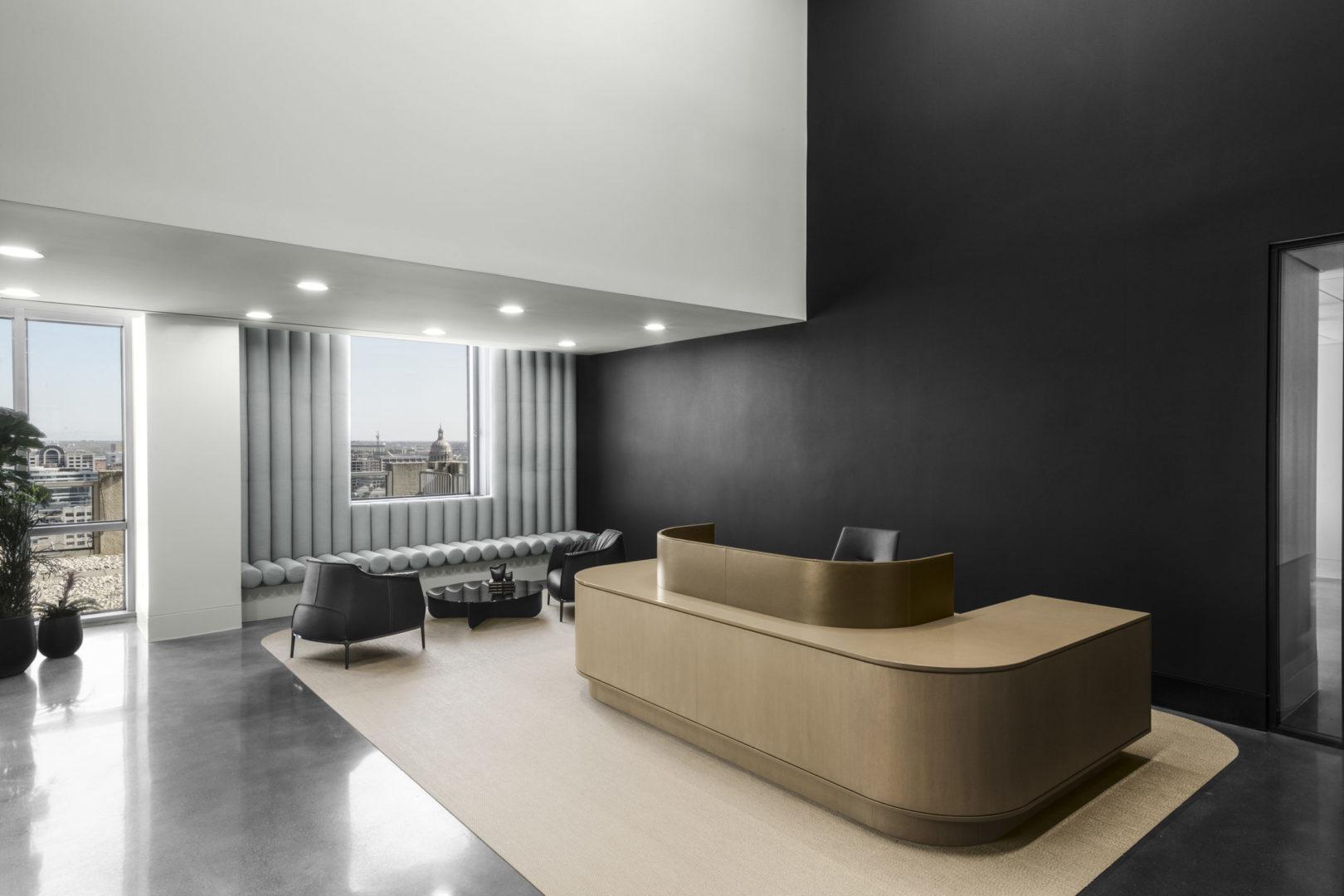 Reception Area Design Austin Office
