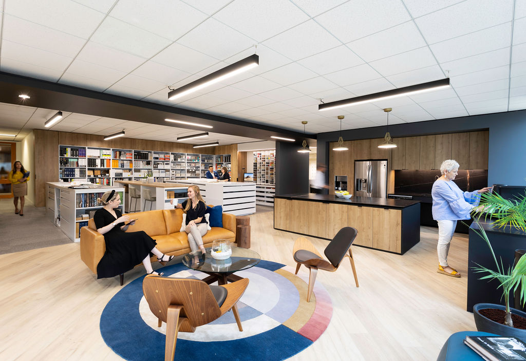 Abel Design Group Breakroom and Library