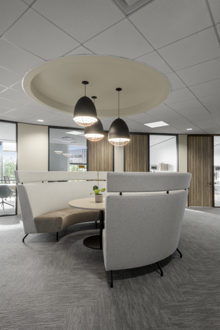 Encino Energy_Collaboration Area with Round Booth