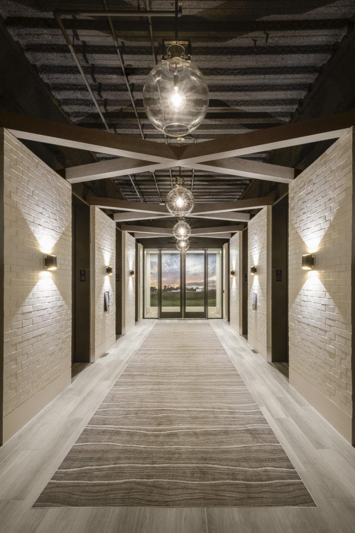 Encino Energy_Elevator Bank Lobby Design