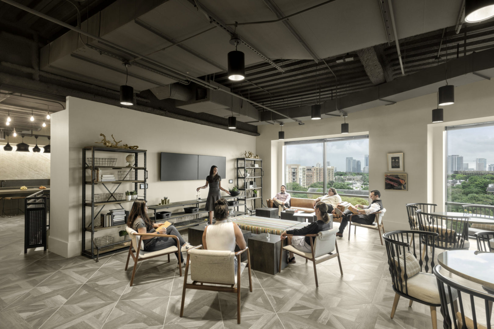 Encino Energy_Multifunction Space Design with people
