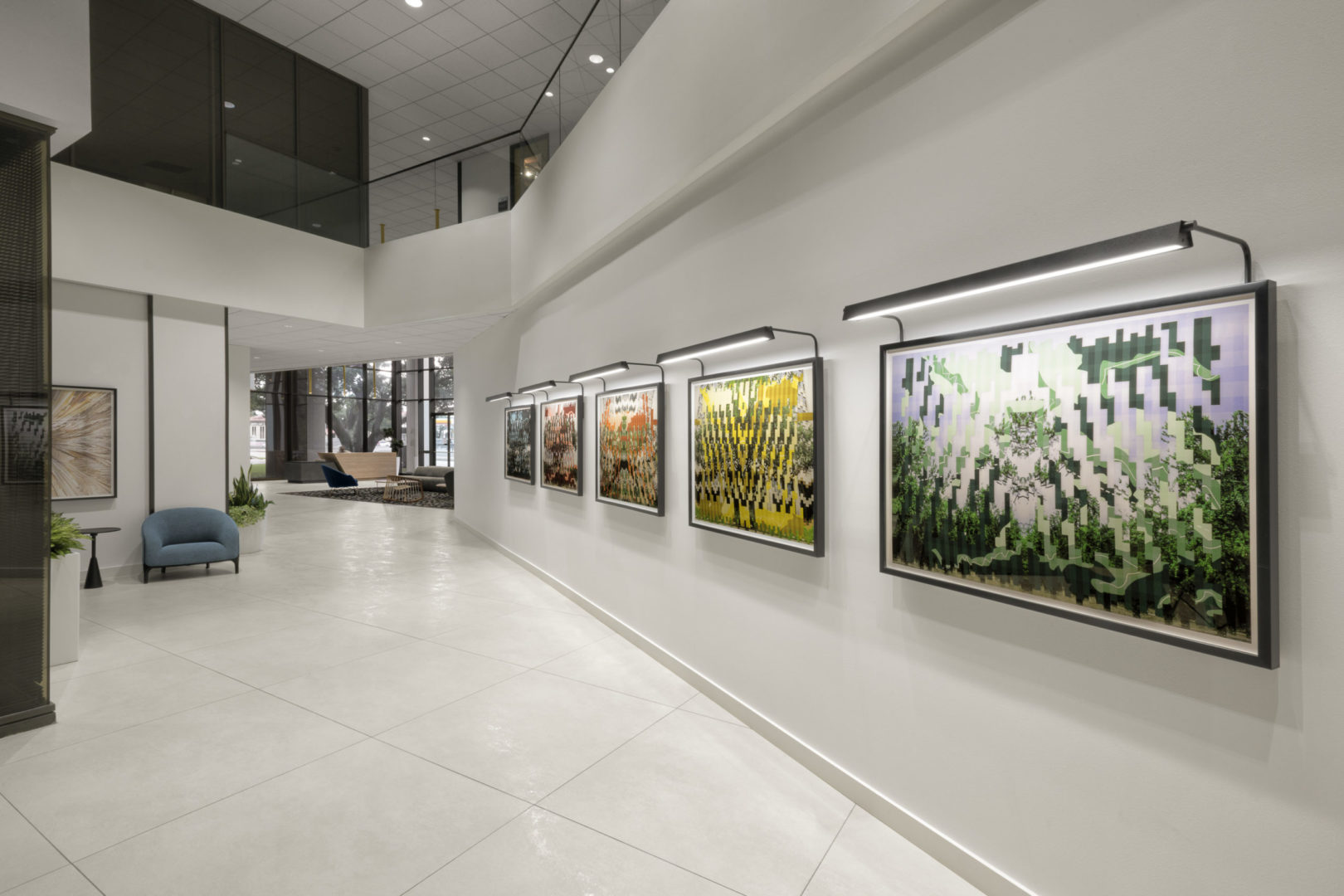 art wall interior hallway design